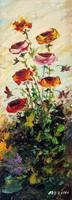 Quadro di Aldo Guglielmo Azzini - Composizione floreale olio faesite